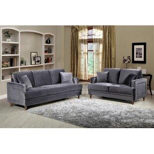 Aadi 2 Piece Living Room Set (Set of 2)