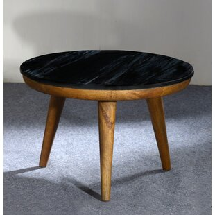 Funderburk Marble Wooden End Table by George Oliver
