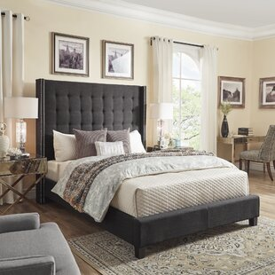 Luxullian Button Tufted Platform Bed