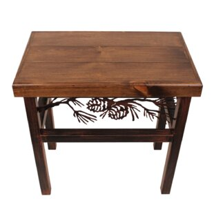 Millwood Pines Ann Pine Cone End Table