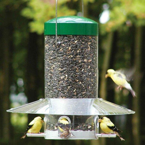 Hexagon Plastic Wild Garden Bird SUNFLOWER HEARTS Seed Feeder 6 Multi Port Perch