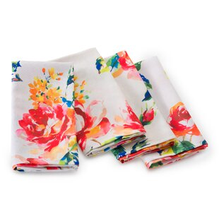 Price Check Floral Bouquet 0.25 Napkin (Set of 4) By Fiesta