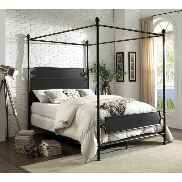 Shop Clinchport Low Profile Storage Canopy Bed from Wayfair on Openhaus