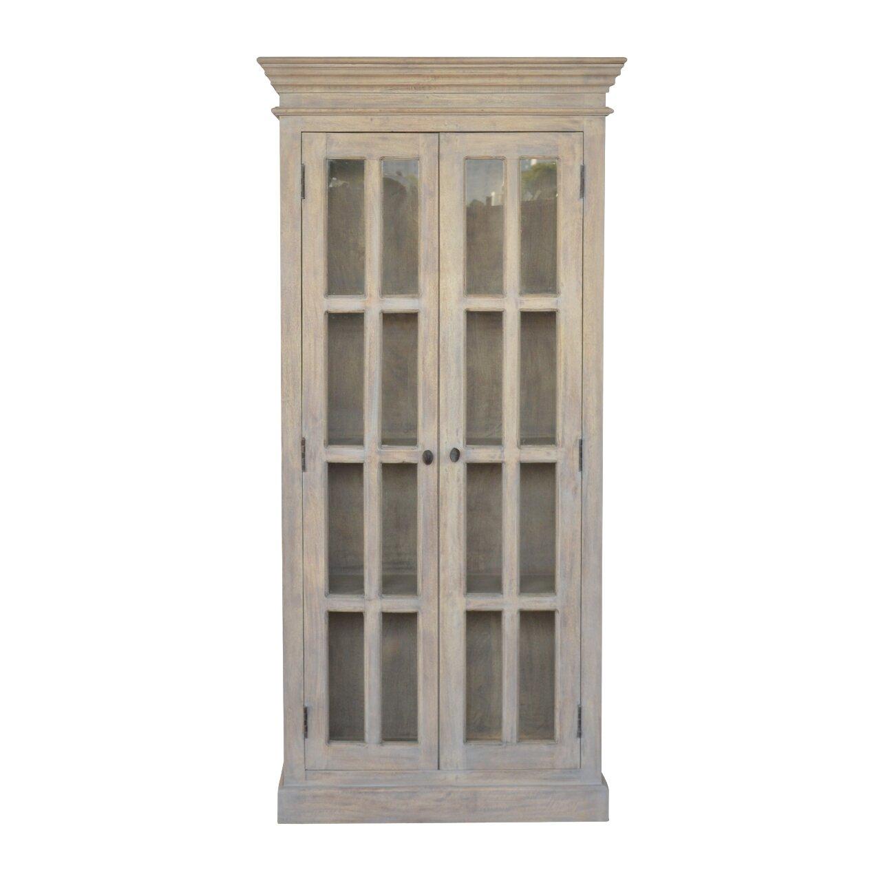 One Allium Way Psyche Double Door Kitchen China Cabinets | Wayfair
