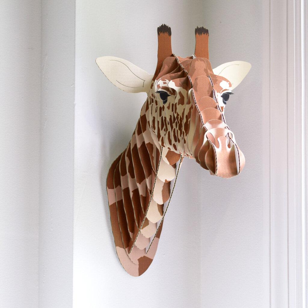 Eyan Cardboard Giraffe Head Lifelike Wall Decor