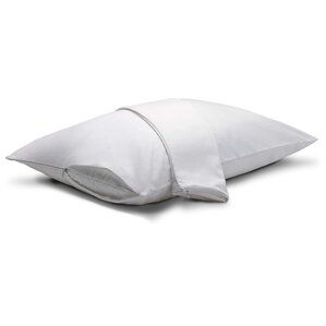 Zippered Pillow Protector (Set of 2) by Effortless Bedding