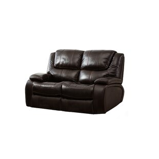 Hille Leather Reclining Loveseat by Red Barrel Studio 2019 Sale