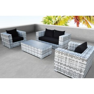 Solis Patio Magna 4 Piece Rattan Sofa Set with Cushions