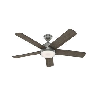 54 Romulus 5 Blade LED Smart Ceiling Fan with Remote, Light Kit Included by Hunter Fan