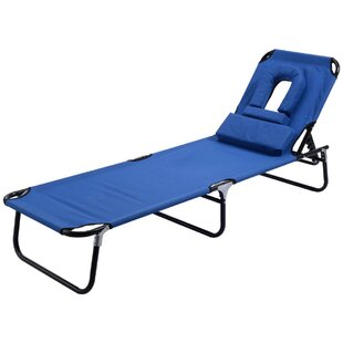 Foldable Reclining Sun Lounger By Symple Stuff