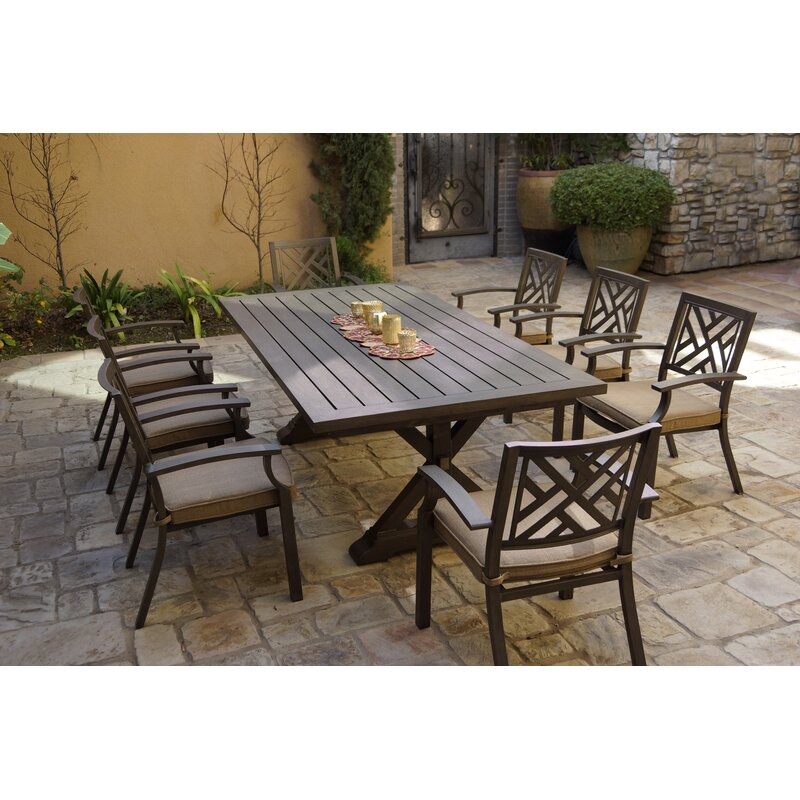 Myles 9 Piece Dining Set With Cushions Reviews Birch Lane