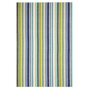 Hand Woven Green/Blue Indoor/Outdoor Area Rug