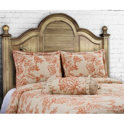 14 Karat Home Inc French Country 3 Piece Duvet Cover Set Size King Color Spice