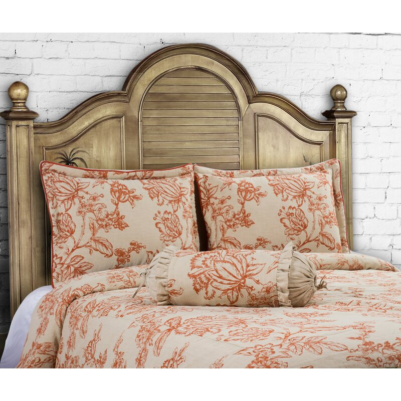 14 Karat Home Inc. French Country 3 Piece Duvet Cover Set Size: King, Color: Spice