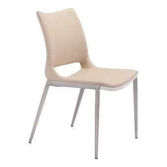 Rosdorf Park Kibler Upholstered Ladder Back Arm Chair In Ivory Wayfair