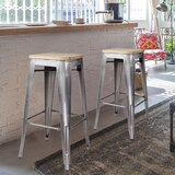 Spaulding Backless Metal 30 Bar Stool (Set of 2) by Williston Forge