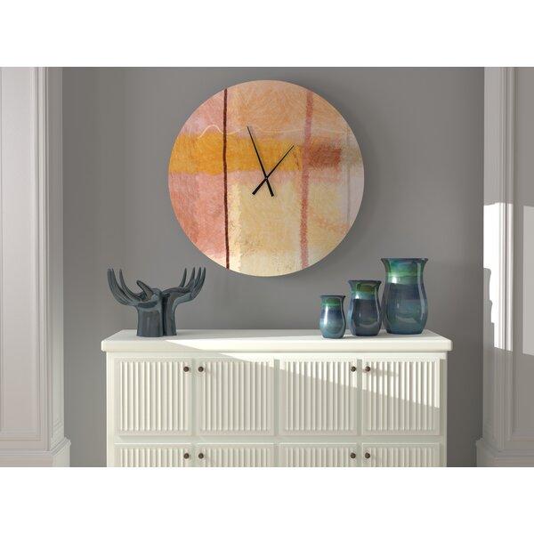 Ebern Designs Seemly Doubtless Abstract Wall Clock Wayfair
