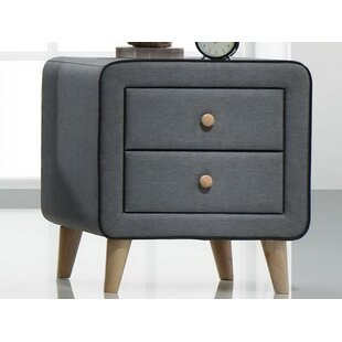 Lonan 2 Drawer Nightstand by Wrought Studio