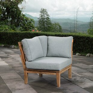 Beachcrest Home Elaina Teak Patio Chair w..