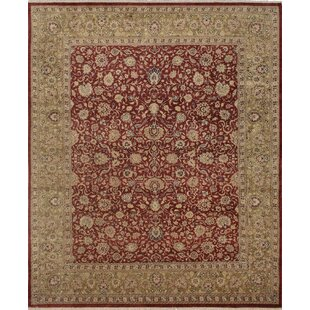 Find for Clearman Hand Knotted Wool Red/Green Area Rug ByAstoria Grand