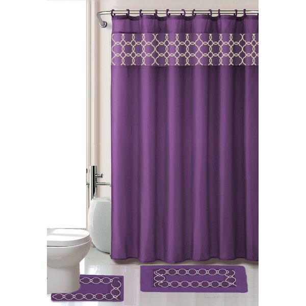 Purple Shower Curtain Set | Wayfair