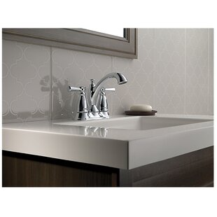 Inexpensive Linden™ Centerset Bathroom Faucet with Drain Assembly and Diamond Seal™ Technology By Delta