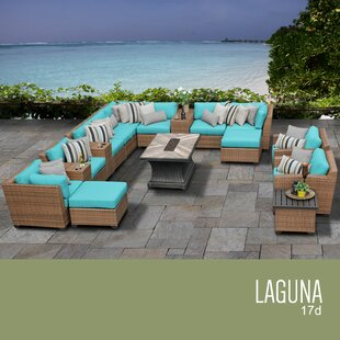 Rosecliff Heights East Village 17 Piece Rattan Sectional Set