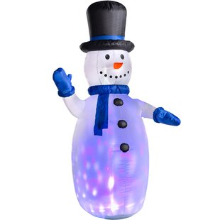 Pre-Lit Animated Snowman Inflatable By The Seasonal Aisle
