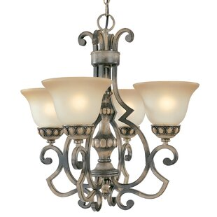 Westchester 4-Light Shaded Chandelier by Classic Lighting