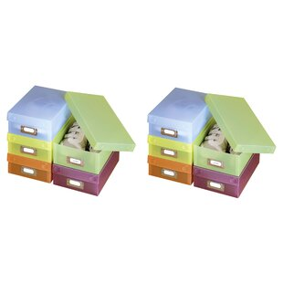 Multi Plastic Box (Set Of 10) By Rebrilliant