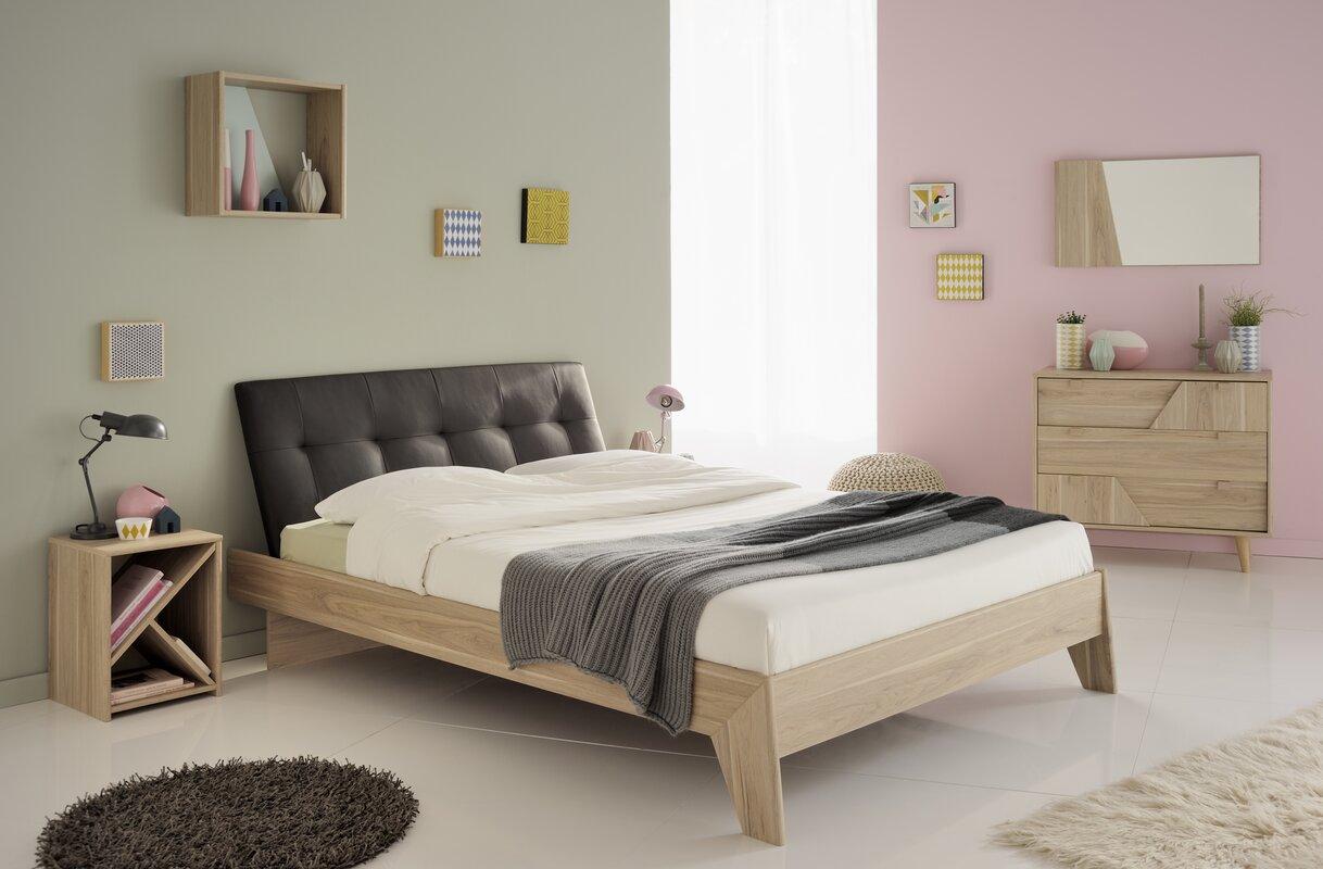 parisot swen fulldouble upholstered platform bed  reviews  wayfair - defaultname