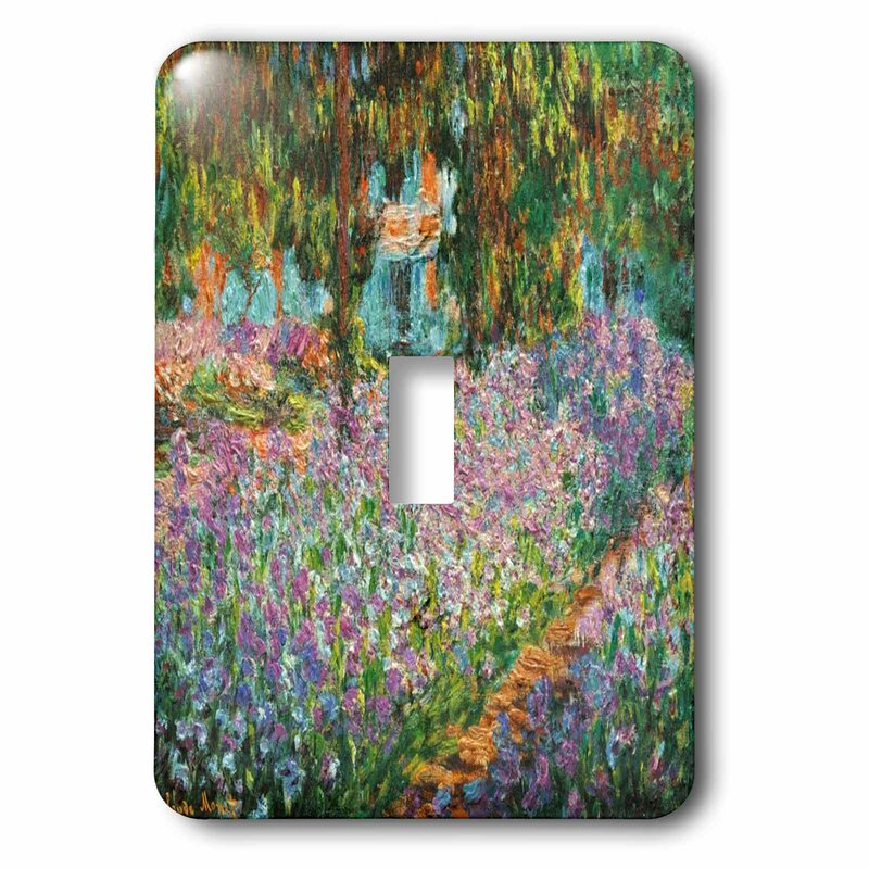 3drose Irises In Monet Garden 1 Gang Toggle Light Switch Wall Plate Wayfair