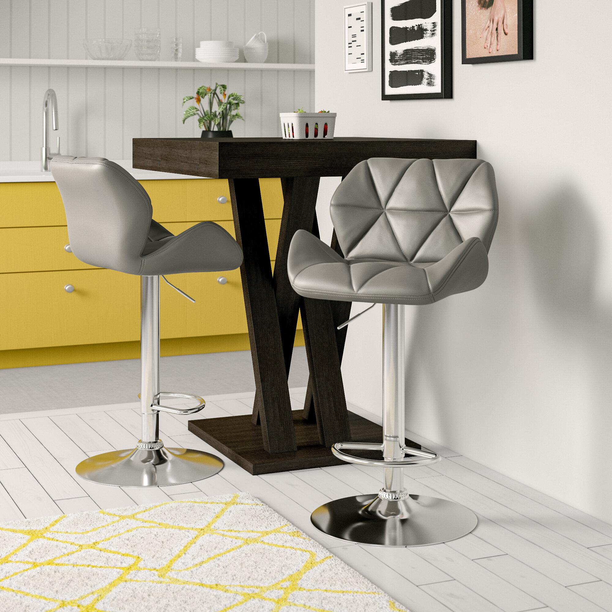 Fantastic Marceline Hydraulic Adjustable Height Swivel Bar Stool Ncnpc Chair Design For Home Ncnpcorg