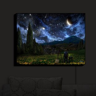 Look for Starry Night' Print on Fabric By Red Barrel Studio