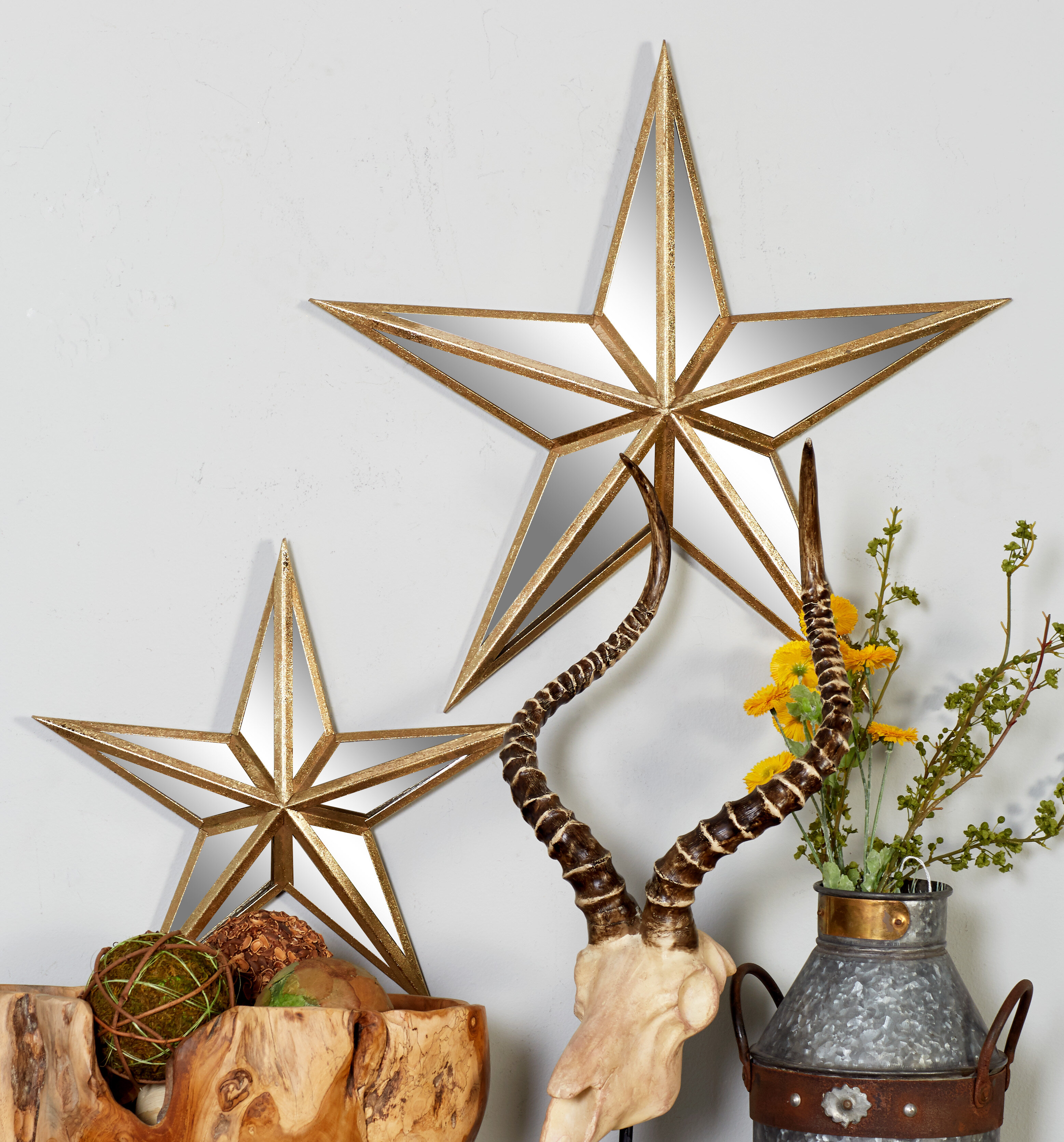 Silver Metal Star Wall Decor  from secure.img1-fg.wfcdn.com