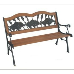 If Pigs Could Fly Wood and Cast Iron Park Bench by DC America