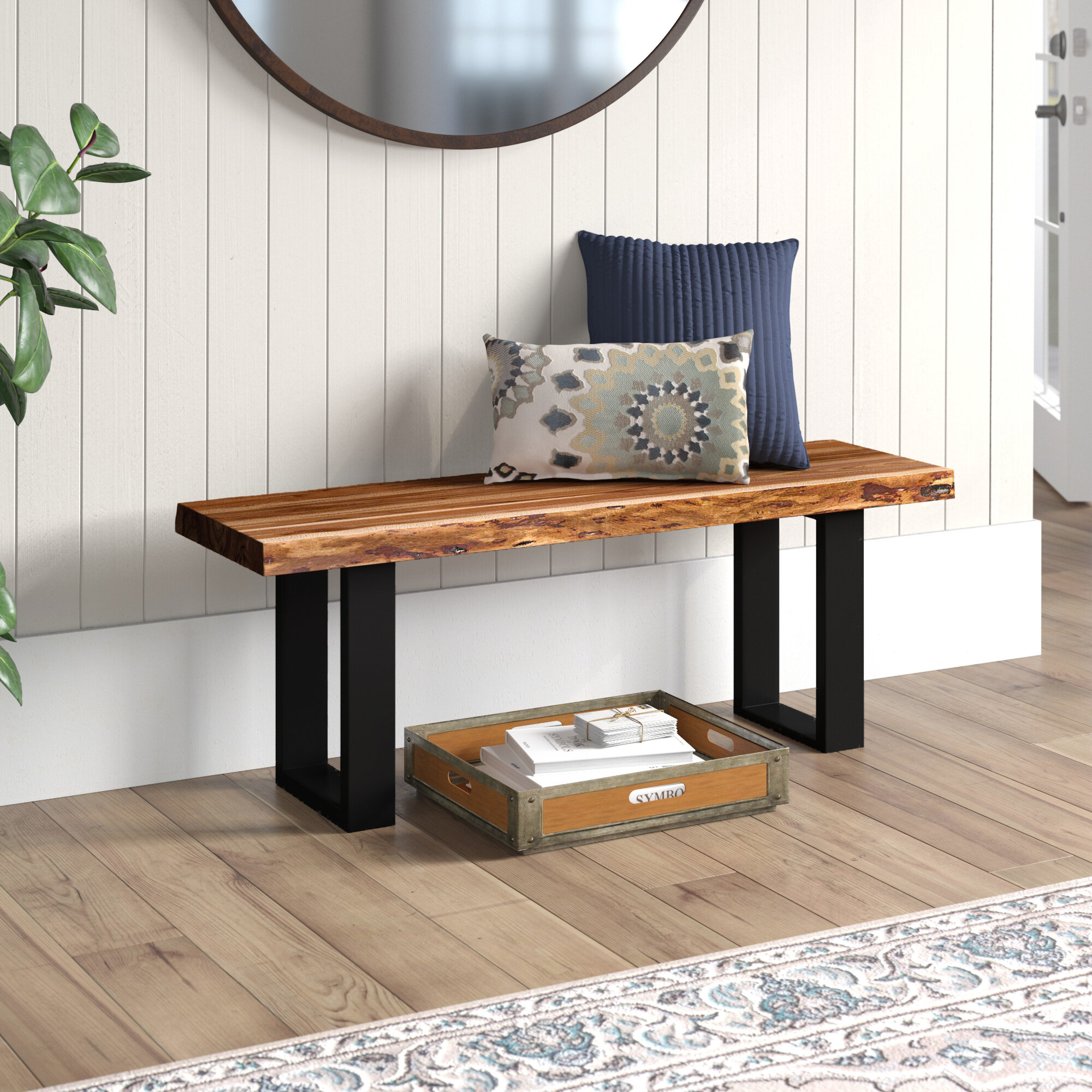 Picture of: Foundry Select Bexton Live Edge Three Seat Bench Reviews Wayfair