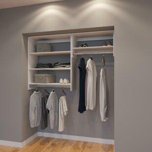 Price comparison Cline 66 W Organizer Closet System (Set of 3) By Rebrilliant