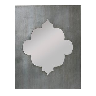 World Menagerie Rectangle Champagne Leaf Accent Wall Mirror