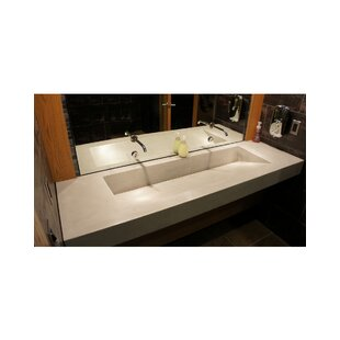 Best Reviews Ramp Rectangular Trough Bathroom Sink By Hyde Products