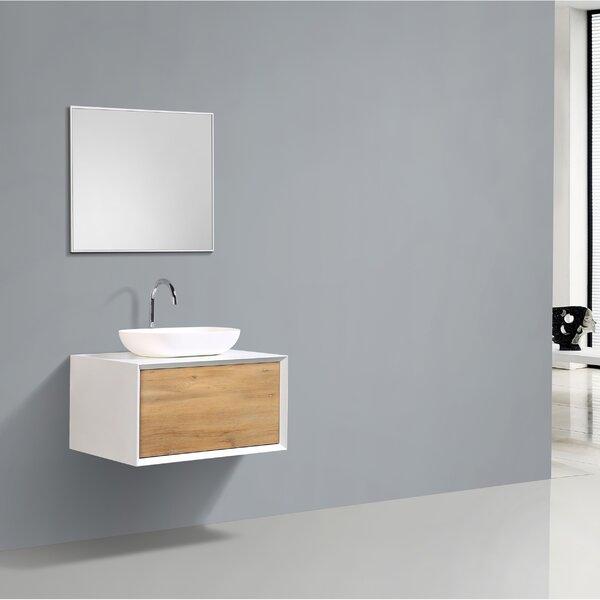 Orren Ellis Grissett 30 Wall Mounted Single Bathroom Vanity Set Wayfair