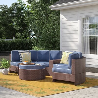 Superb Sol 72 Outdoor Bermuda 6 Piece Sectional Set With Cushions Machost Co Dining Chair Design Ideas Machostcouk