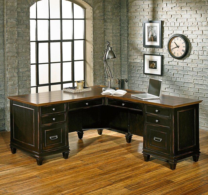 L Shaped Desk Images kathy ireland homemartin furniture hartford 3 piece l-shaped