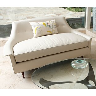 Brigitte Leather Loveseat by Global Views