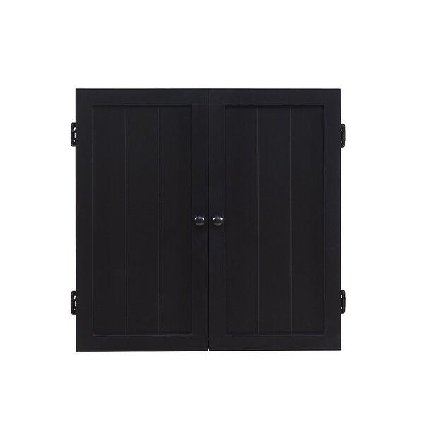 Darby Home Co Adcox Dart Board Cabinet Set U0026 Reviews | Wayfair