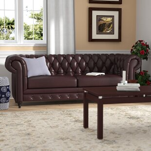 Kacper Leather Chesterfield Sofa