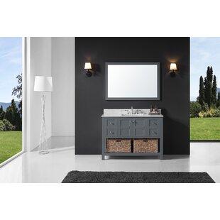 Coe 48 Single Bathroom Vanity Set with Mirror By Highland Dunes