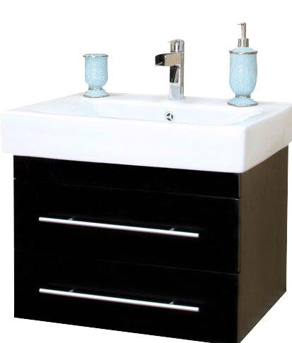 "bellaterra home pickering 25"" single wall-mounted bathroom vanity"