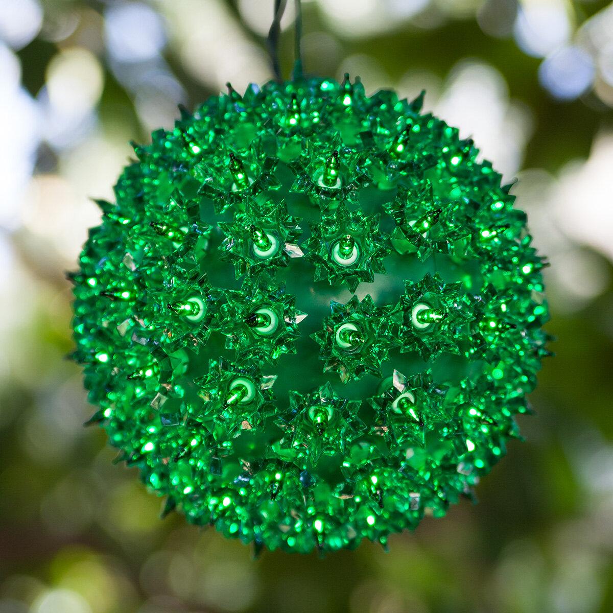 the holiday aisle 6 starlight sphere 50 light luminary reviews wayfair - Starlight Sphere Outdoor Christmas Decoration