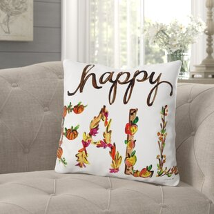Roncy Happy Fall Flowers Throw Pillow